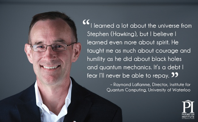 Portrait of a man wearing a black suit and glasses with a quote about a teacher