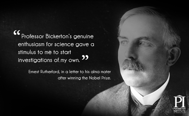 Black and white picture of Ernest Rutherford
