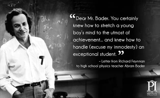 Black and white picture of a man with quote about his teacher