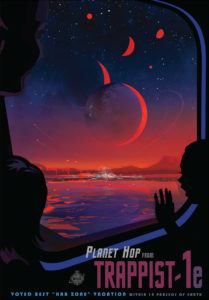 Trappist-1 poster from NASA/JPL
