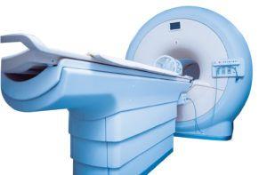 Blue MRI machine