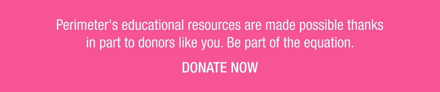 Pink background with white text about Outreach resources