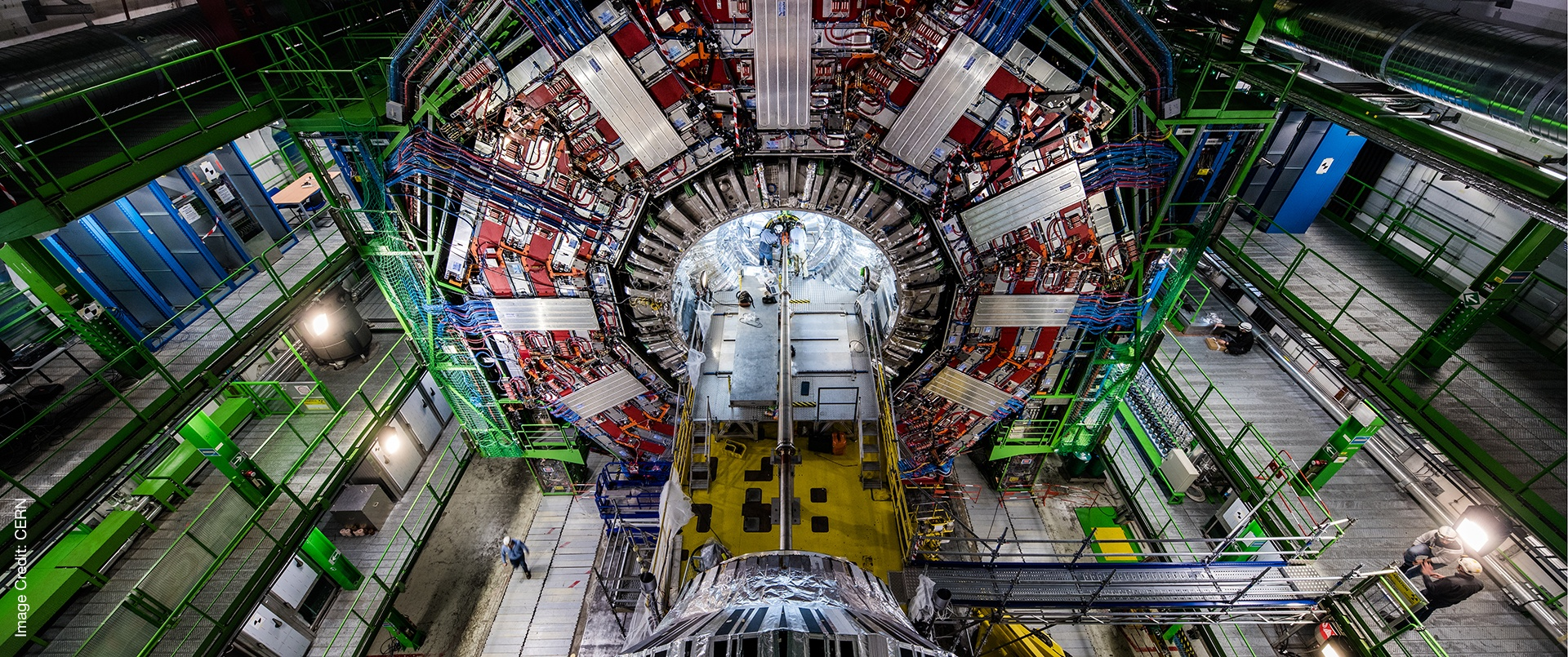 aerial shot of large hadron collider