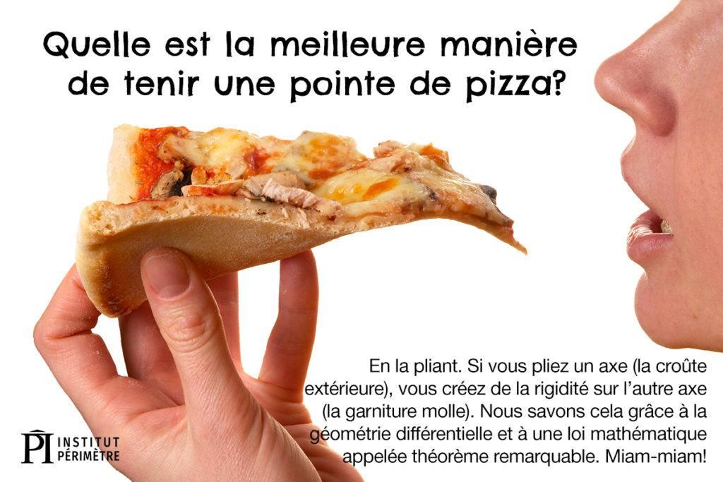 Gros plan de quelqu'un en train de manger une part de pizza