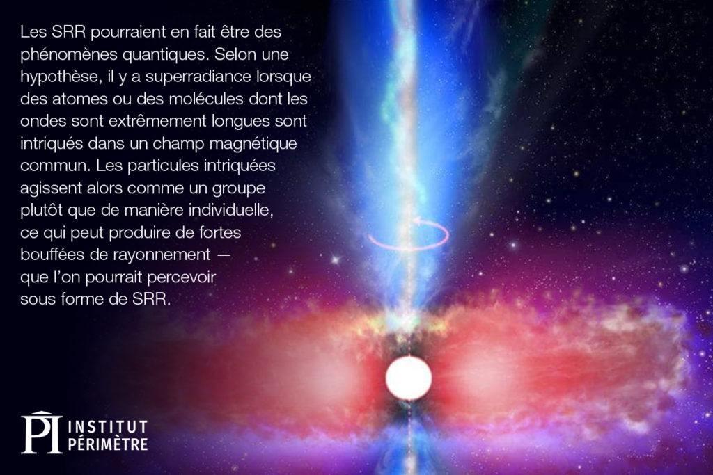 Une étoile blanche et brillante tire une lumière bleue du centre de l'espace