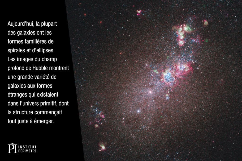 Galaxie irrégulière dans l'espace