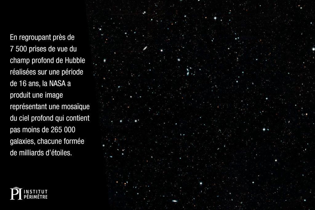 Image des galaxies et des étoiles dans l'espace