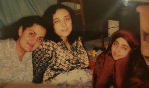 Ghazal Geshnizjani, Research Associate Professor at University of Waterloo and PSI Fellow at Perimeter, and two friends